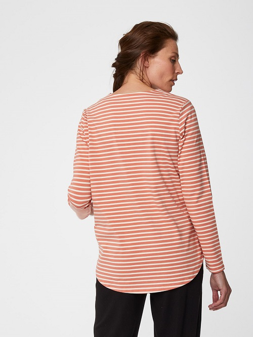 C460803_wst4608-Coral-pink-ronan-womens-organic-cotton-striped-tee-2