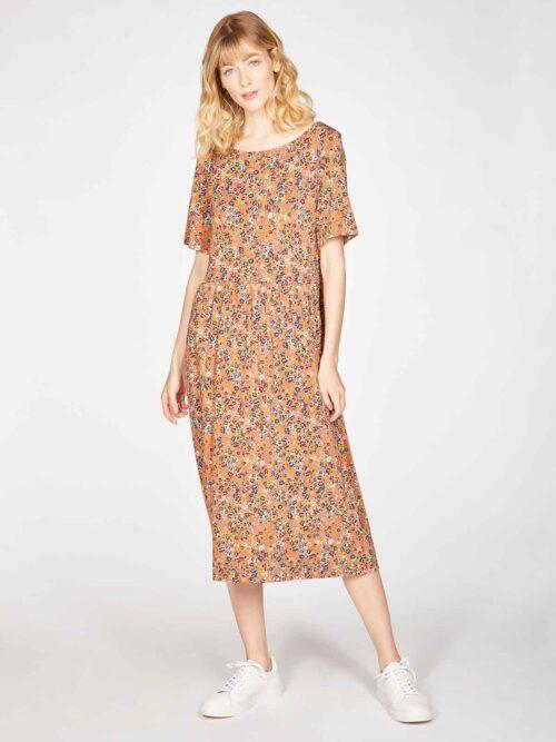 WSD5502-CINNAMON-BROWN–Antonia-Bamboo-Organic-Cotton-Jersey-Printed-Dress-in-Cinnamon-Brown-5