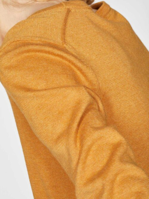WWT4950-AMBER-YELLOW–Loren-V-Neck-Basic-Organic-Cotton-Cardgian-In-Amber-Yellow-1