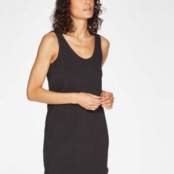 μαυρο φορεμα απο οργανικο βαμβακι