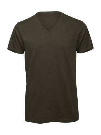 V-Neck T-shirt-αντρικο-χακι